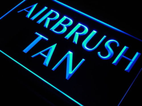 Airbrush Tan Beauty Salon Shop Neon Light Sign